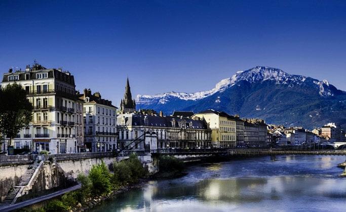 Французский город Гренобль регион Рона Альпы