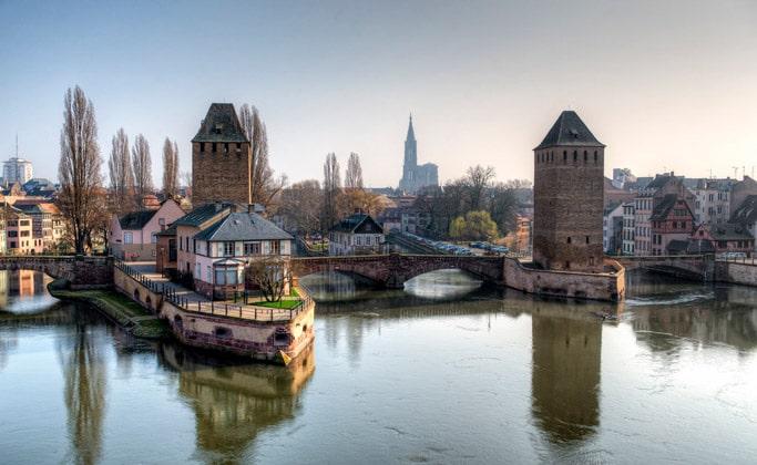 Один из мостов Страсбурга